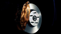 Subaru Impreza WRX STI spec C gold colored Brembo brake calipers