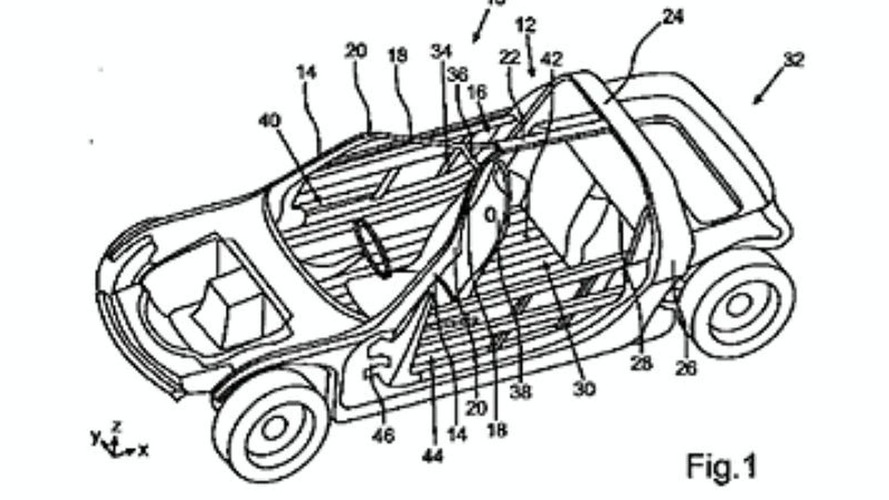 Three-seater Smart car patent drawings emerge