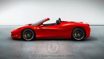 Ferrari 458 Italia Spider artist rendering