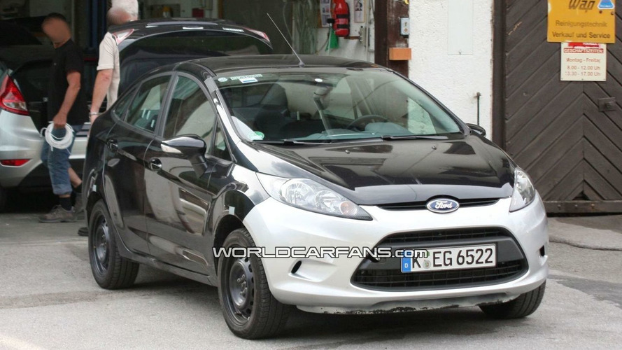 2010 Ford Fiesta sedan for Europe Spied Undisguised