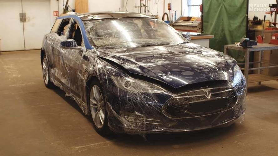 Tesla Model S Shooting Brake Taking Shape