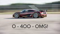 Koenigsegg speed record teaser