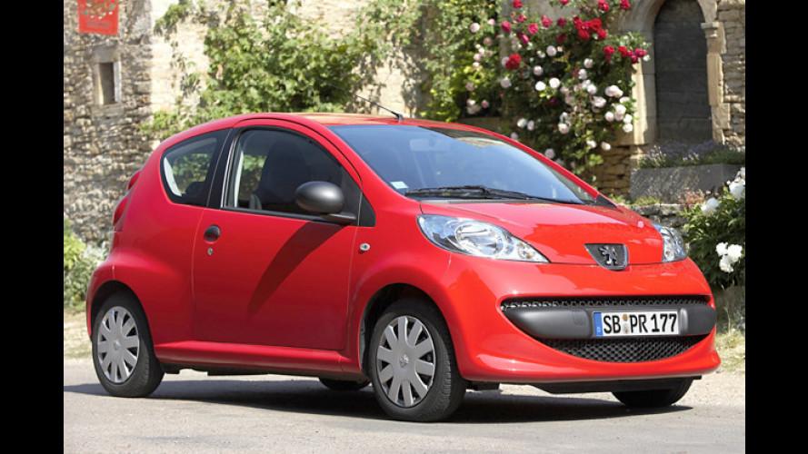 Einstiegspreis-Aktion für die Peugeot-Modelle 107 und 206