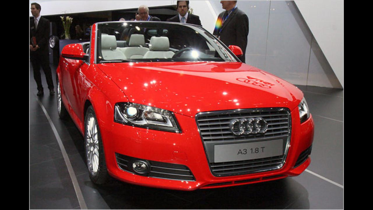 Audi A3 Cabrio: Das Cabrio gibt bereits einen Ausblick auf die neue A3-Front