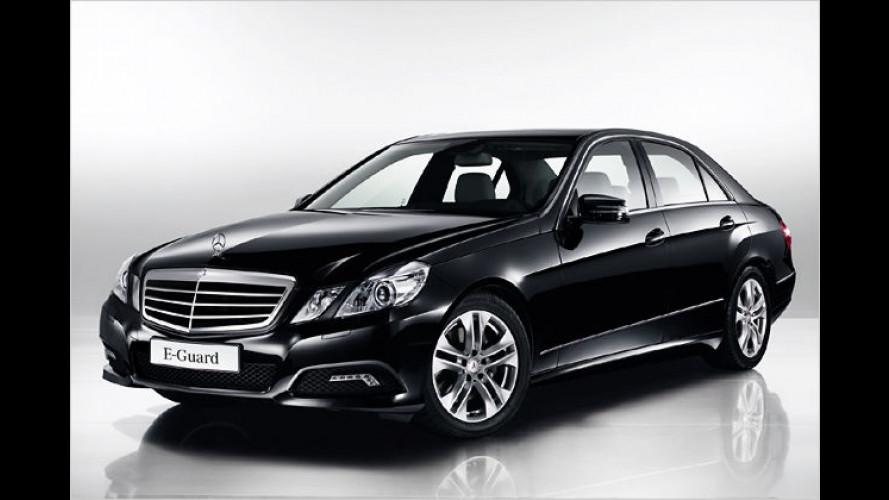 Panzerglas für die E-Klasse: Der Mercedes E-Guard