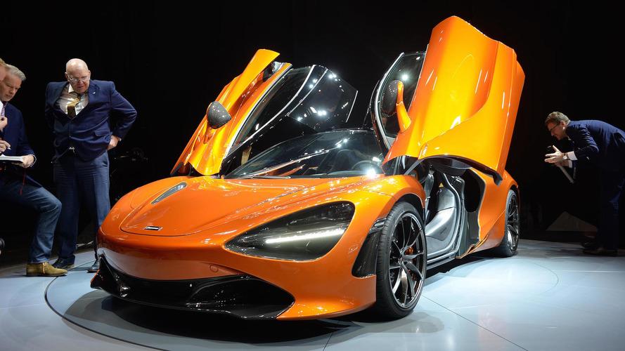 McLaren 720S, aerodinamik gövdesiyle Cenevre'de