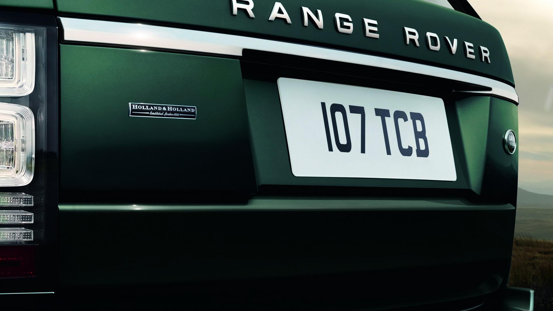 Зелёный Range Rover Holland & Holland