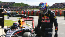 Daniel Ricciardowith team mate Max Verstappen
