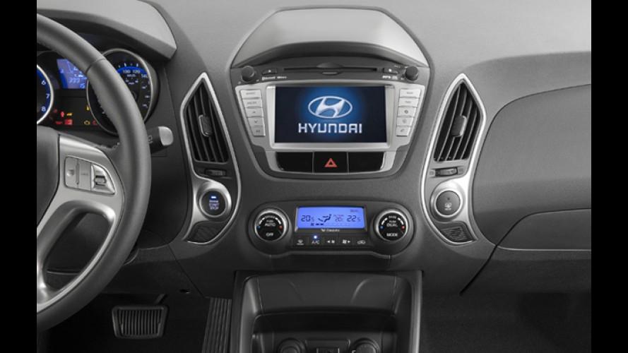 Hyundai ix35 e Santa Fe 2012 ganham GPS e kit multimídia