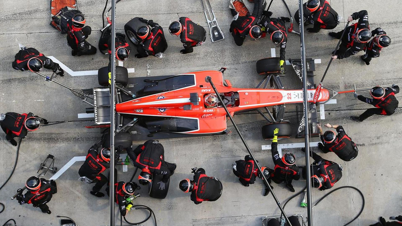Jules Bianchi pit stop 24.03.2013 Malaysian Grand Prix