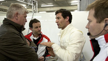 Mark Webber with Wolfgang Hatz - Alexander Hitzinger and Andreas Seidl in Algarve Portimao Portugal