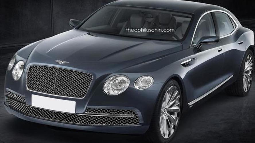 Bentley entry-level sedan rendered based on Buick Avenir