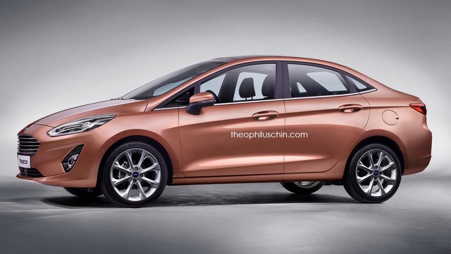 Fiesta Sedan 2018 - Projeção antecipa visual da nova geração