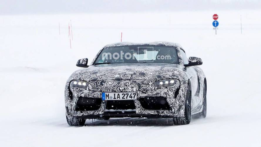 2018 Toyota Supra spy photos with less camo