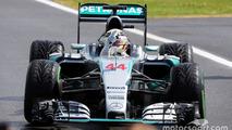 Race winner Lewis Hamilton, Mercedes AMG F1 W06 celebrates in parc ferme