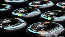 Wet Pirelli tyres