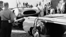 """Grand Prix of Sweden, Kristianstad, 7 August 1955. """"The Blue Wonder"""" carrier from Mercedes-Benz with a 300 SLR (W 196 S)"""