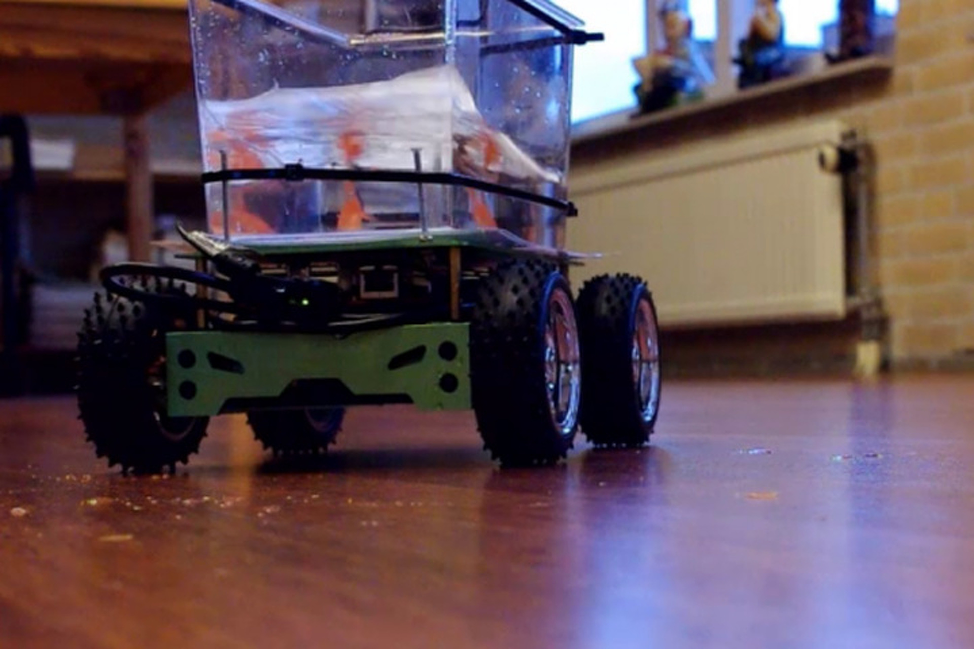 Dutch Designers Build Go-Kart for Goldfish Tank that It Can Actually Steer! [Video]