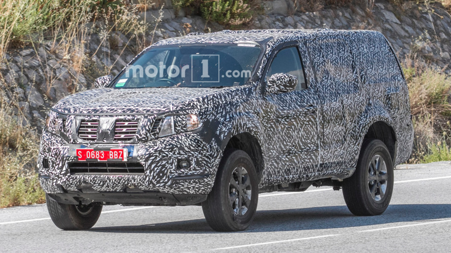 Nissan Navara-based SUV test mule spied on the road