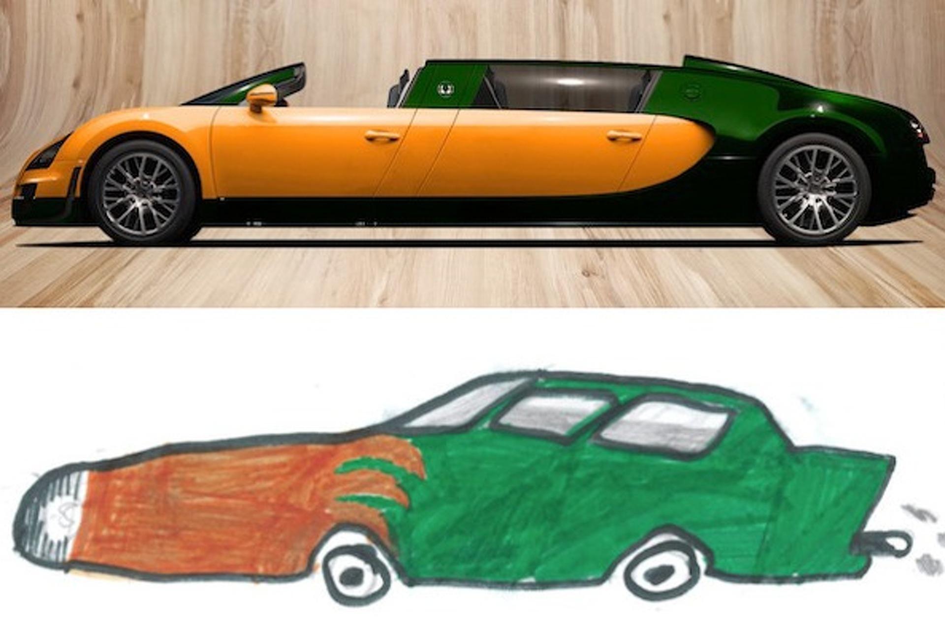 9-Year-Old Dreams Up a Bugatti Limo Concept