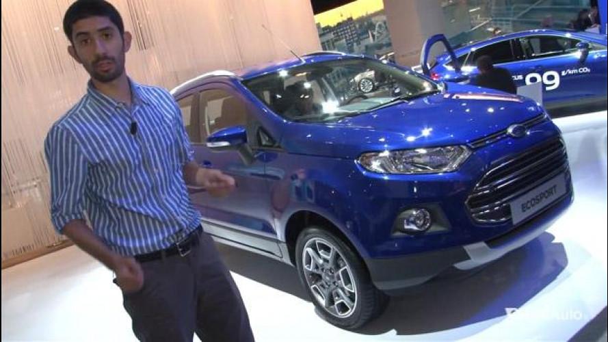Salone di Francoforte: Ford EcoSport, incontro dal vivo con il piccolo SUV [VIDEO]