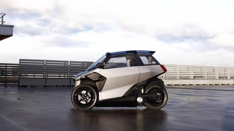 PSA dévoile un drôle de véhicule hybride