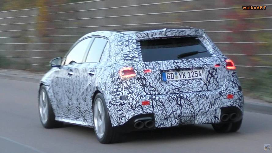 New Mercedes-AMG A45 Caught In Action With Quad Exhaust