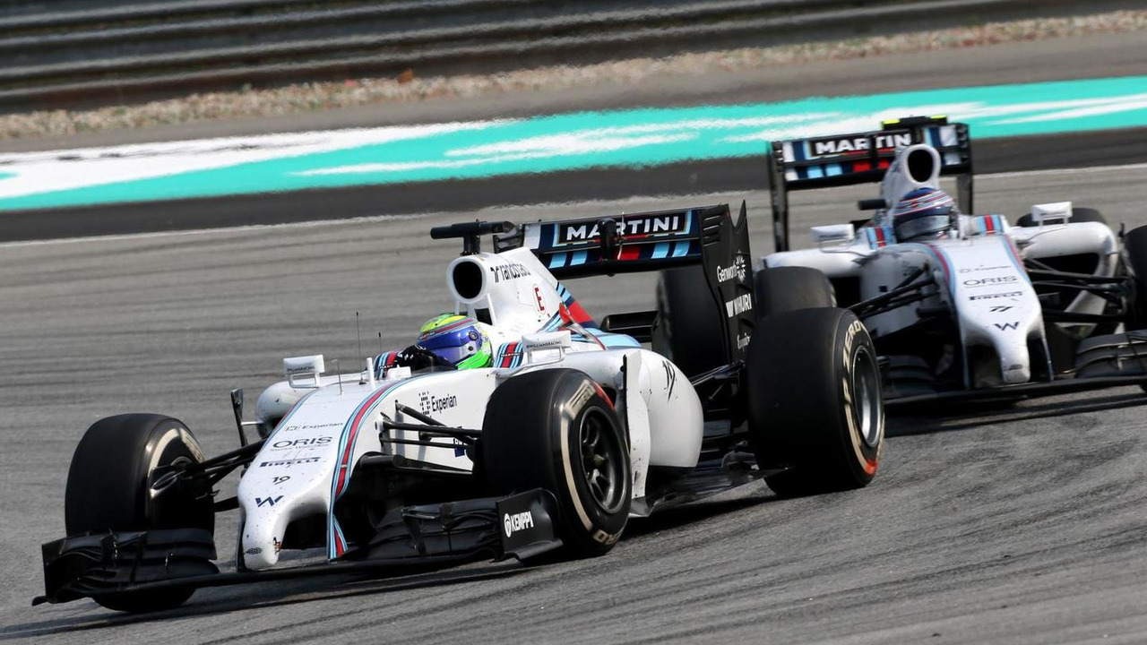 Felipe Massa leads teammate Valtteri Bottas in 2014 Malaysian Grand Prix
