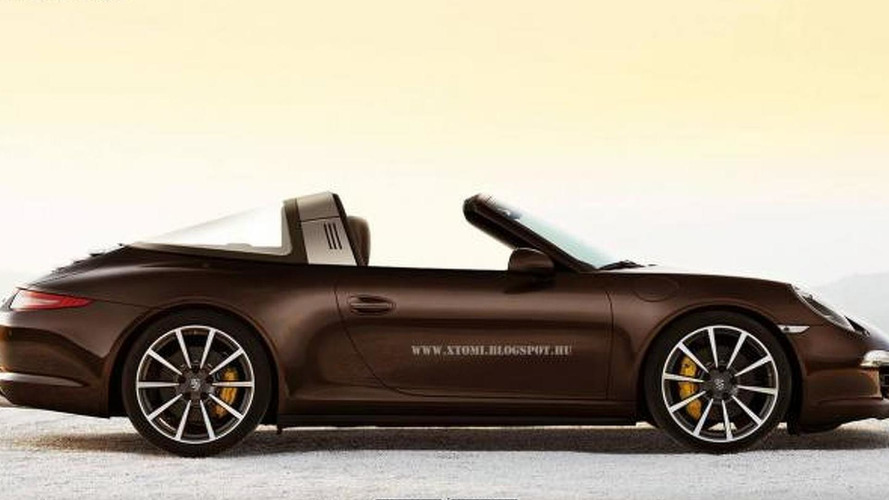 2014 Porsche 911 Targa rendered based on patent pics