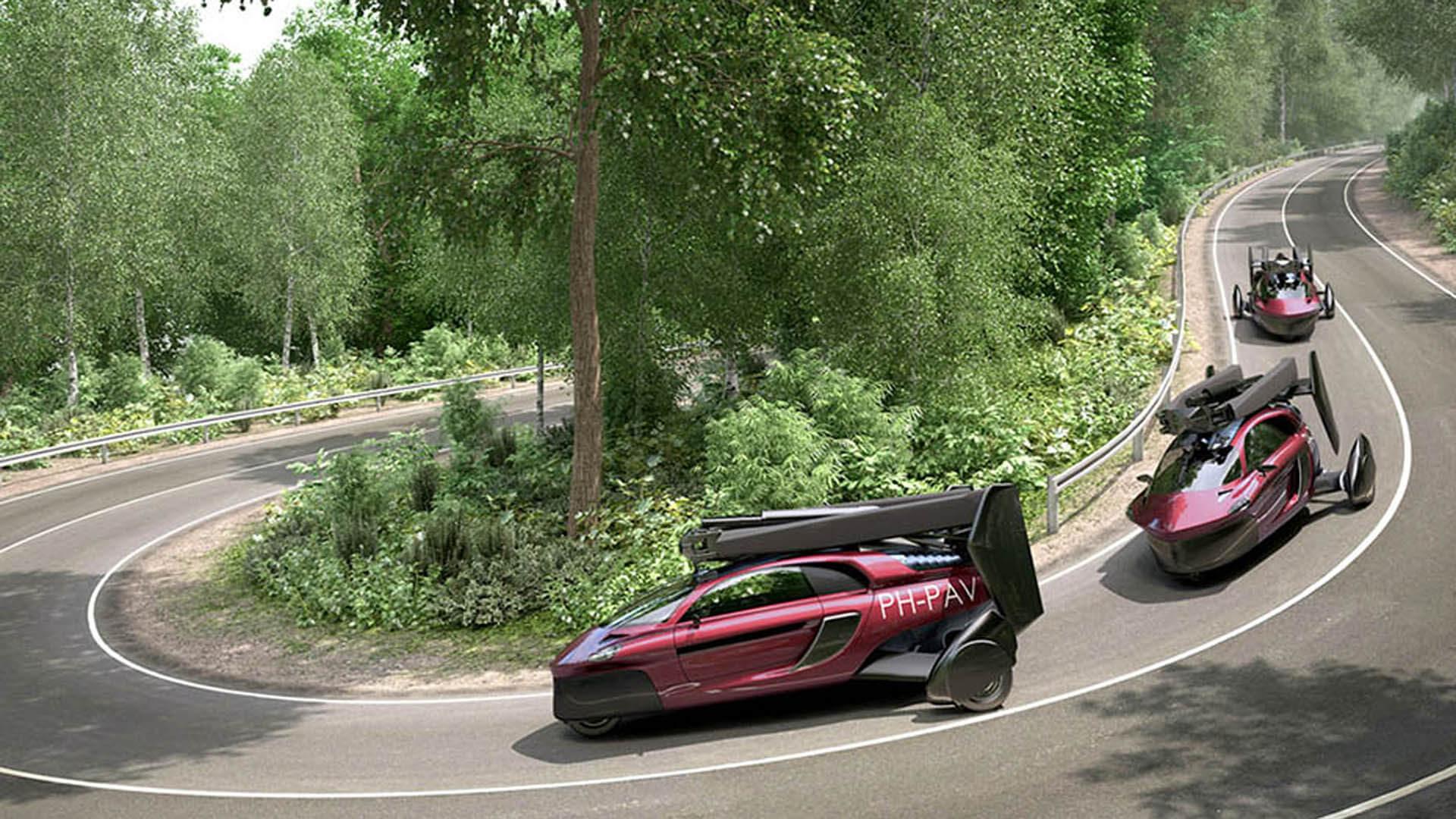 Cette voiture volante est la solution ultime pour éviter les bouchons ! By DETOURS                      Pal-v-liberty-uber-den-wolken
