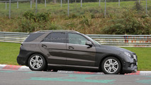2016 Mercedes-Benz M-Class facelift / GLE spy photo