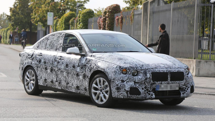 BMW 1-Series sedan spied for the first time