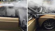 Bentley Continental Flying Spur fire in China