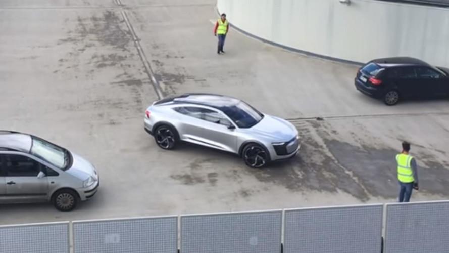Audi e-tron Sportback, ¡cazado en un tejado!