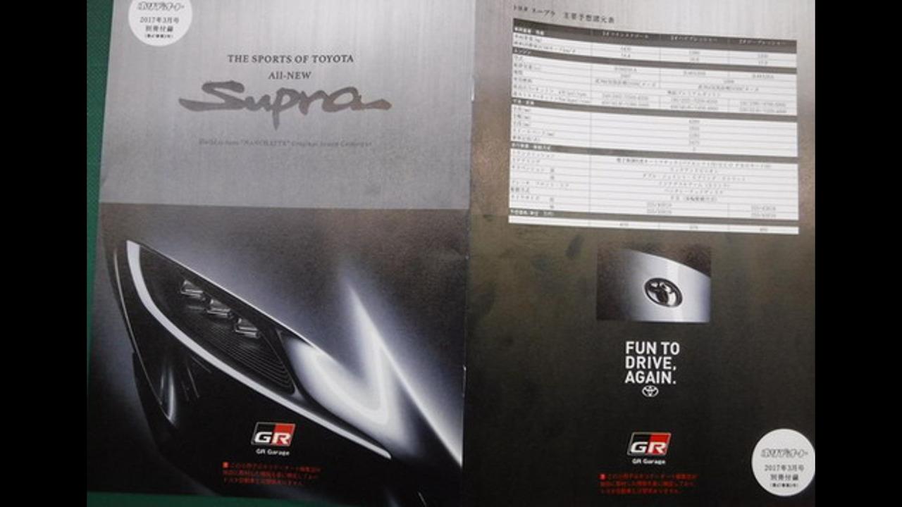 2018 Toyota Supra brochure (not confirmed)