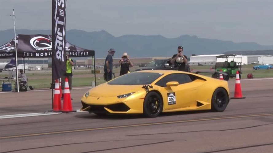 Lamborghini Huracan, yeni 800 m rekorunu kırdı
