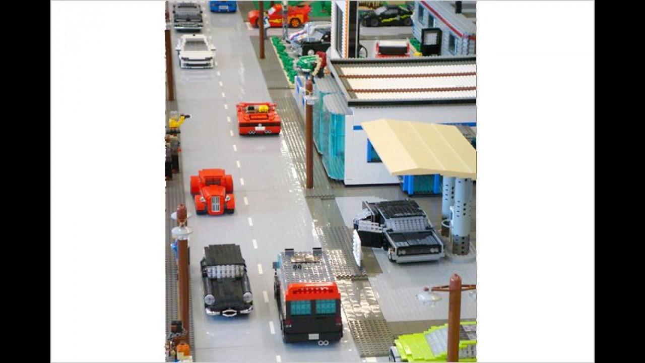 Starker Verkehr auf der Brick Alley