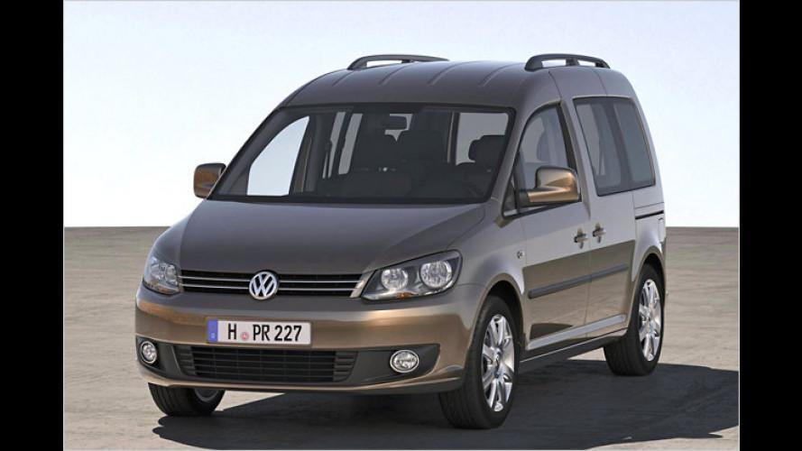 VW Caddy erhält sparsamere Motoren und neues Design