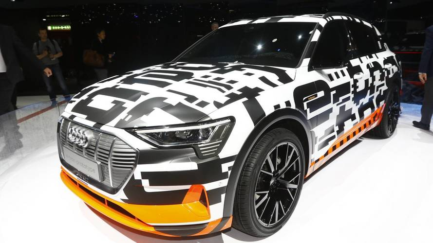 Audi shows off E-tron SUV in near production form
