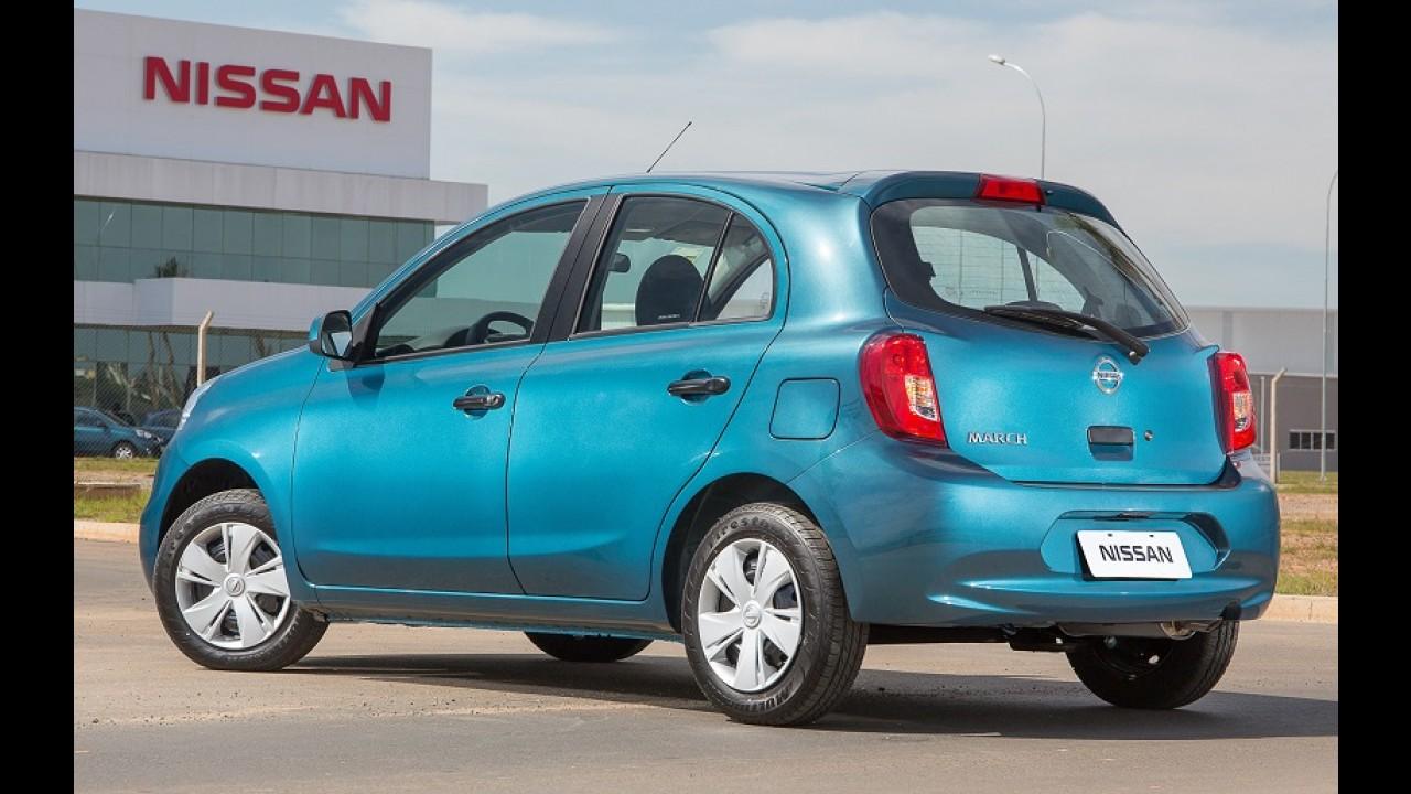 Nissan March ganhará motor 1.0 de três cilindros na próxima semana
