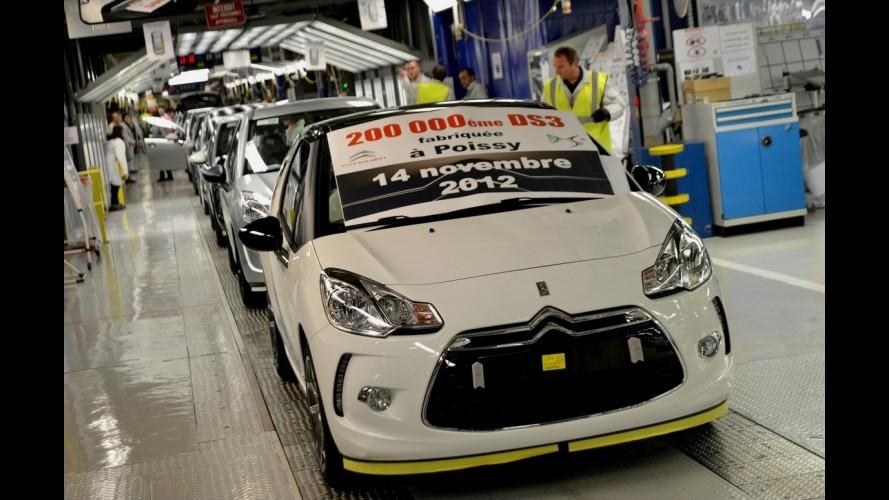 Citroën DS3 alcança marca de 200.000 unidades produzidas