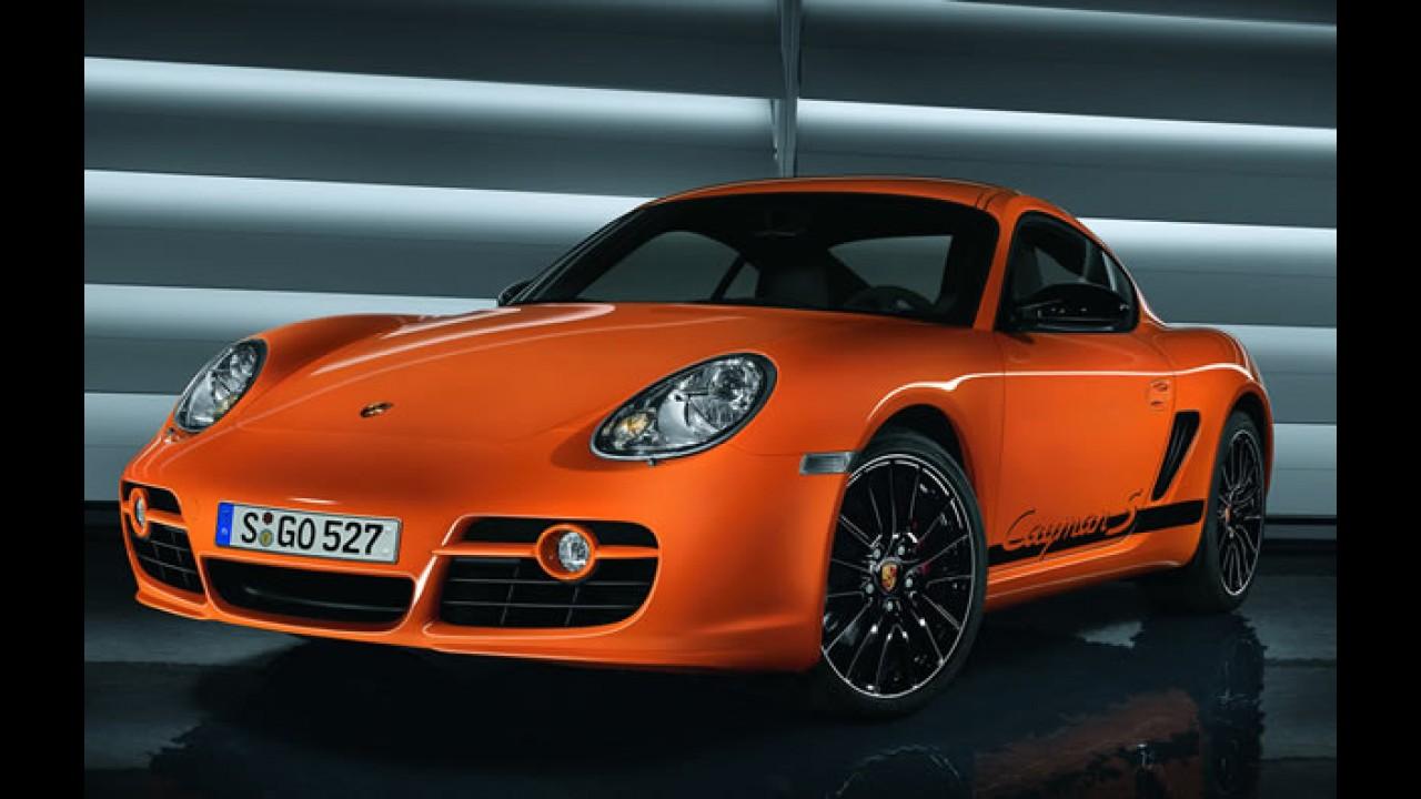 Porsche Cayman CS no Salão de Los Angeles