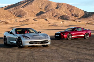 Corvette Stingray vs Shelby GT500 in the Ultimate Track Battle [video]