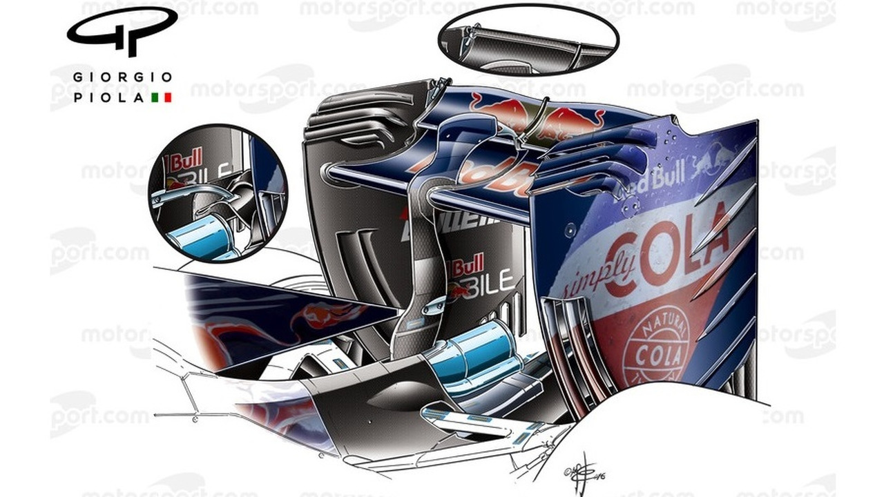 Toro Rosso STR11 rear wing, detailed view, Chinese Grand-Prix