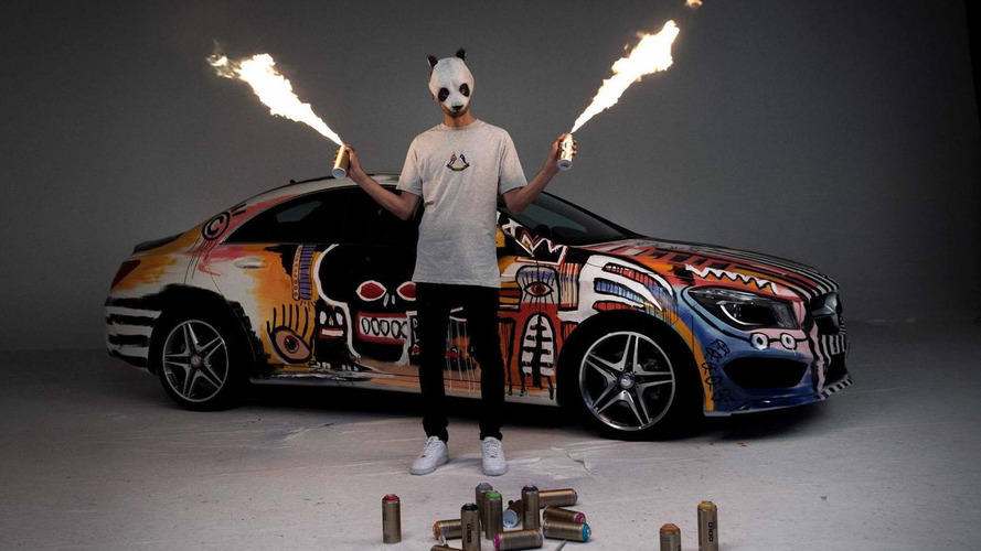 Mercedes CLA art car unveiled