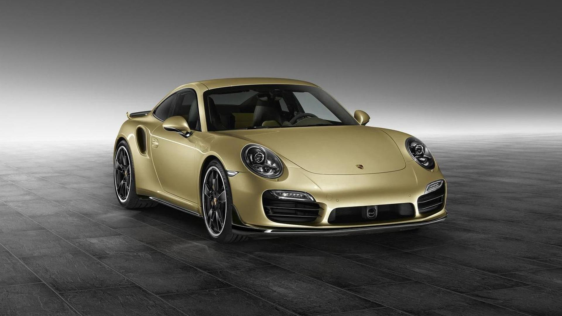 Золотистая Porsche 911 Turbo от Porsche Exclusive