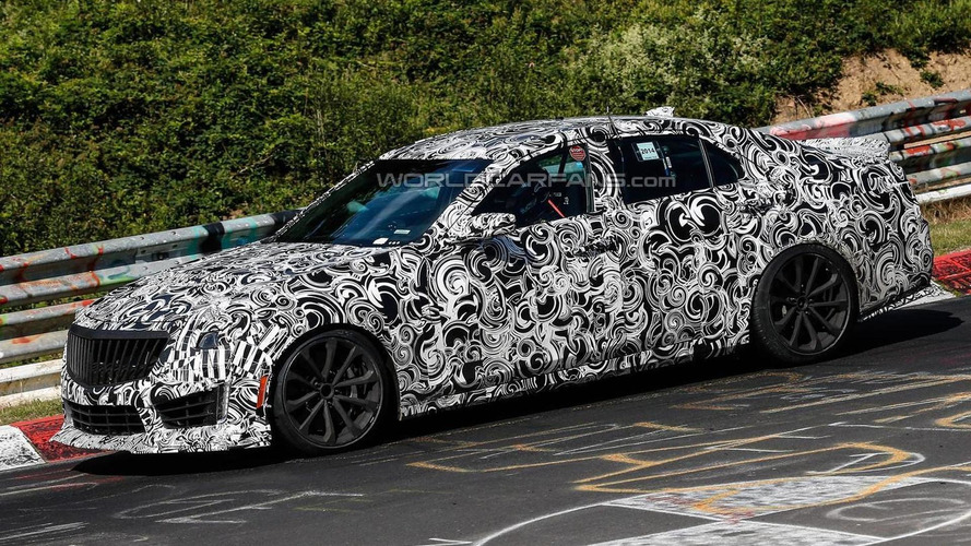 Cadillac CTS-V spied flexing its muscles at the Nurburgring