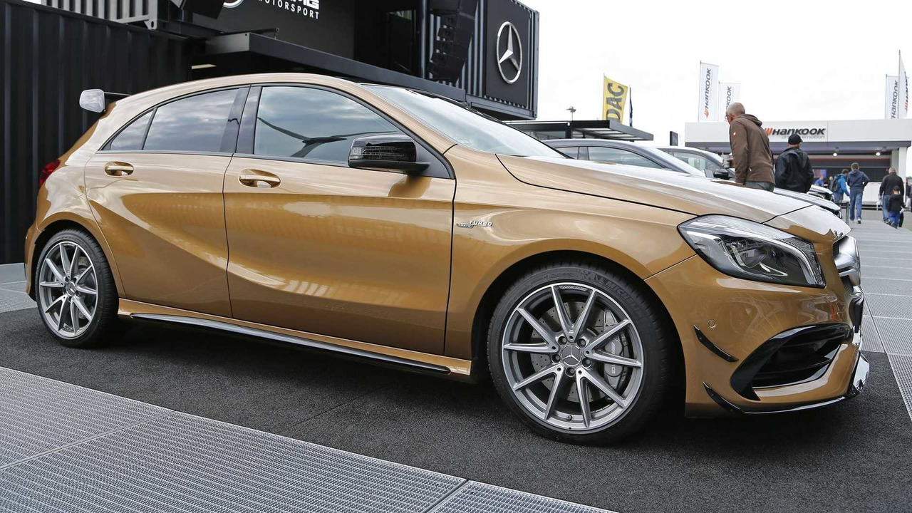 Beige Mercedes Amg A45 Stands Out Among Hot Hatches
