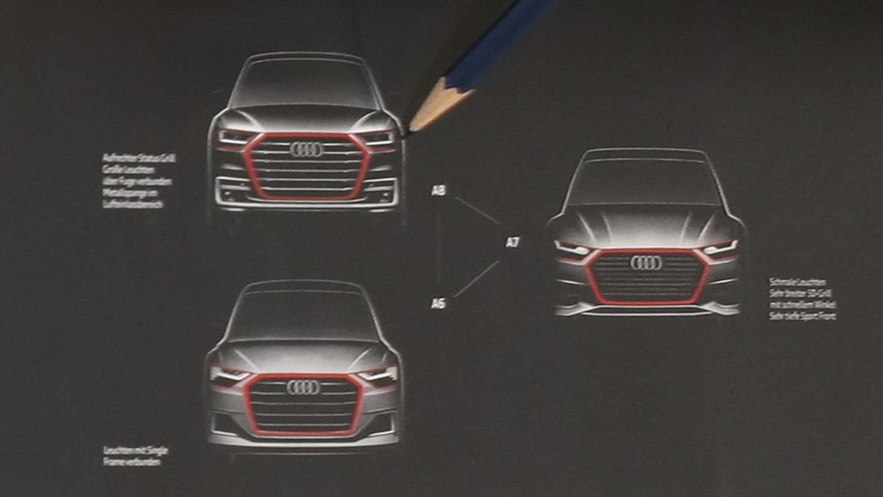 Yeni nesil Audi A8, A7 ve A6 resmi tasarım eskizleri