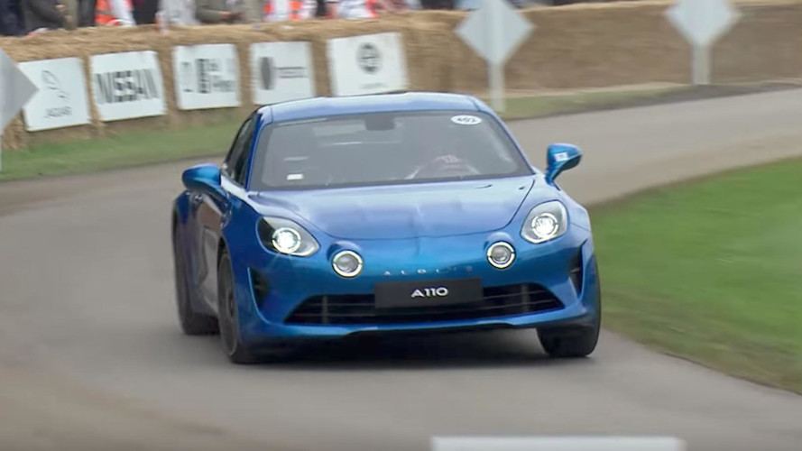 Watch The Alpine A110 Makes Its Dynamic Debut At Goodwood